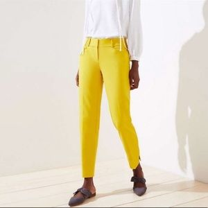 LOFT yellow Riviera pant Marisa fit cropped